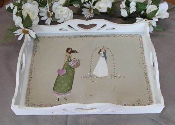 pladenj vzorčast - poročni par
