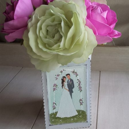 Poročni par (roza vrtnice)